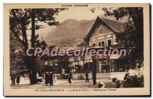 Postcard Old Savoie Tourism challes waters Queen's Sulfur Spa Establishment
