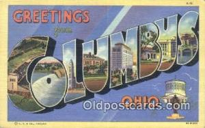 Columbus, Ohio USA Large Letter Town Vintage Postcard Old Post Card Antique P...