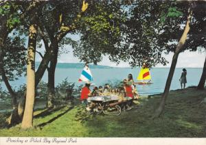 Children Picnicking & Sailboating, Pohick Bay Regional Park, Lorton, Virginia...