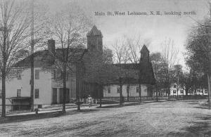 Lebanon New Hampshire Main Street Looking North Antique Postcard K7876334