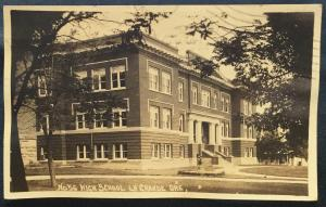 Picture Postcard Used Oregons No 56 High School La Grande OR LB