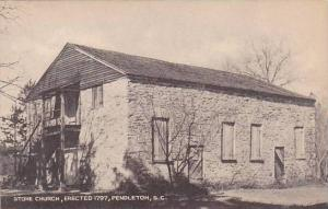 South Carolina Pendleton Stone Church Erected 1797