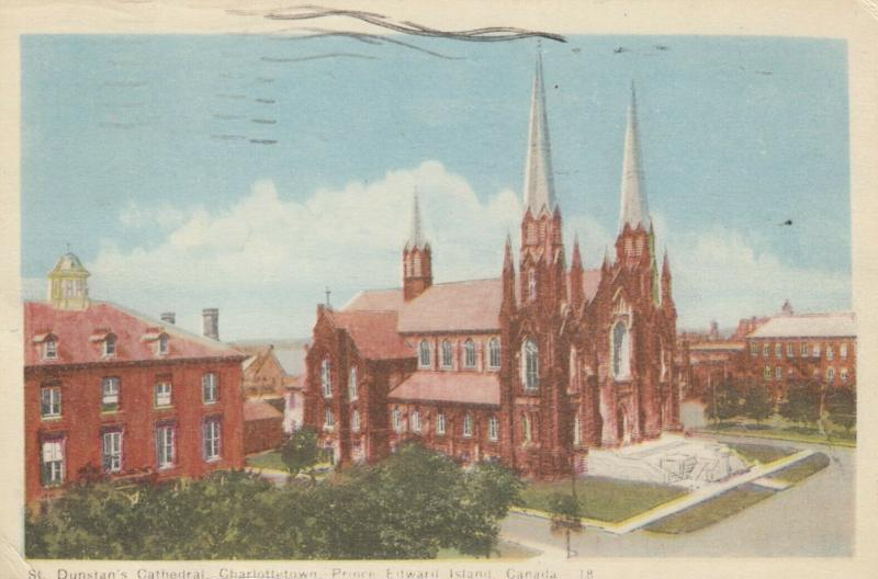 CHARLOTTETOWN , P.E.I. , Canada , 1930s; St. Dunstan's Cathedral
