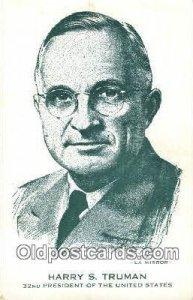 Harry S. Truman Other Presidents Unused