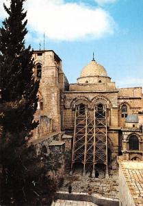 Israel Old Vintage Antique Post Card Church of the Holy Sepulchre Unused