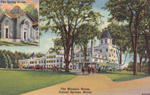 POLAND SPRINGS, Maine, 1930-1940's; The Mansion House, The Spring House