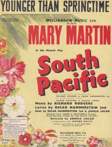 Younger Than Springtime South Pacific Mary Martin 1940s Sheet Music