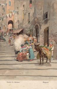 NAPOLI , Italy , 1901-07 ; Gradini S. Batbara , TUCK 7252