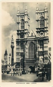 England London Post card Westminster Abbey neoclassical style architecture