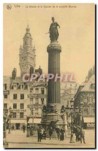 Old Postcard Lille The Goddess and the Tower of the New Stock Exchange