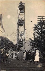 Orwigsburg PA 1913 Ferris Wheel Amusement RPPC Postcard