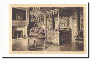 Pau Postcard Ancient castle Henri IV bedroom kings of Navarre Chamber Henry