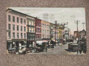 Franklin Square, Troy  N.Y., used vintage card, early 1900`s