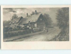 rppc HATHAWAY COTTAGE Shottery Near Stratford - Warwickshire - England UK HM1746