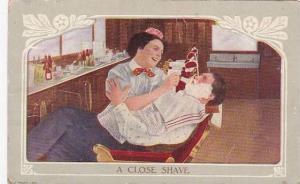 Barber Shop A Close Shave 1911