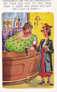 Bronchitis Natural Remedy is Sex Old Pub Comic Postcard
