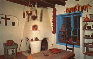 Vintage Postcard Kitchen of the Kit Carson Home in Taos, New Mexico, USA #454