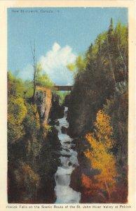 br106601 pokiok falls on the scenic route of st john river new brunswick canada