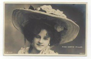 RP; Miss Gertie Millar, English actress and singer wearing hat, PU-1905