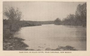 CARLSBAD , New Mexico, 1901-07 ; Bass Pool on Black River