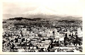 Oregon Portland and Mount Hood Real Photo