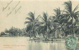 Oceania RAIATEA Tahiti - Coin de rivage a Tevaitoa 1906 TCV stamp