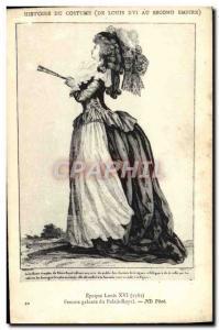 Old Postcard History of Costume Female gallant Palais Royal Paris