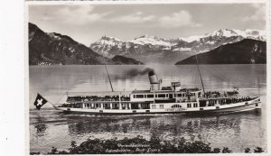 Switzerland Vierwaldstaettersee Salondampfer Stadt Luzern Real Photo sk4283