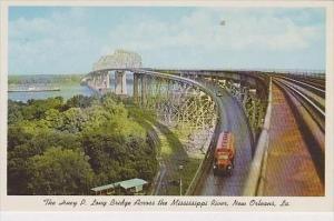 Louisiana New Orleans The Huey P Long Bridge Across The Mississippi River