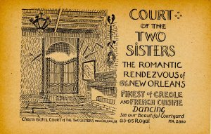 LA - New Orleans. Court of the Two Sisters