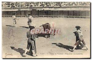 Old Postcard Bullfight Bullfight Preparation with banderillas