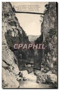 Old Postcard Environs of Aix les Bains Vallee Bauges The Abyss's Bridge Cheran