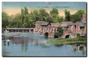 Postcard Old water mill Le Mans Old mill on & # 39Huisne