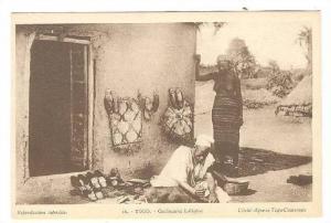 Topless Woman, Cordonnier Indigene, Togo, 00-10s