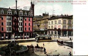 Milwaukee Milwaukee City Hall Square Blatz Hotel and Pabst Theatre 199