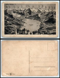 SWITZERLAND Postcard - Berner Oberland, Lake Thunersee & Mountains FF