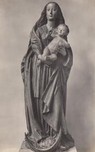Munchen Bayerisches Nationalmuseum Maria Mit Kind Sculpture Postcard