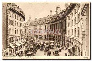 England - England - London - Regent Street Quadrant - Old Postcard