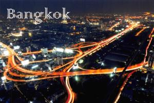 Bangkok Thailand Postcard The City at Twilight E13