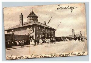 Vintage 1906 Photo Postcard State Bath House Revere Beach Massachusetts