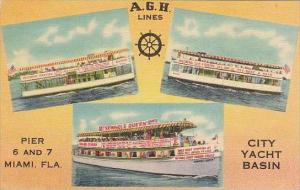 Florida Miami A G H Line City Yacht Basin
