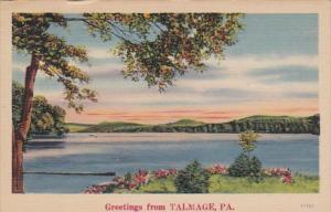 Pennsylvania Greetings From Talmage 1964