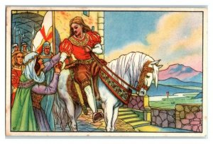 Charlemagne to Fight the Pagans, Saga of Roland, Echte Wagner German Trade Card