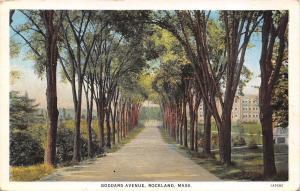 Rockland Massachusetts~Goddard Avenue by School? (?) 1920s Postcard