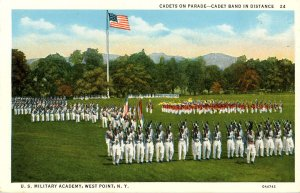 NY - West Point. Cadets on Parade, Cadet Band