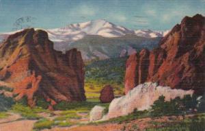 Colorado Colorado Springs Pikes Peak Gateway Of The Garden Of The Gods 1961 C...