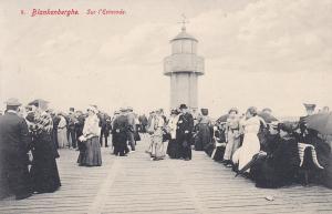 BLANKENBERGHE, West Flanders, Belgium, 1900-1910's; Sur L'Estacade