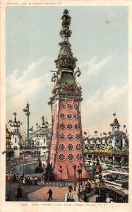 G55/ Coney Island New York Postcard c1910 Main Tower Luna Park 3