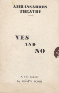 Felix Alymer in Yes And No George Formby Comedy Theatre Programme