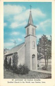 near Festina, Iowa, IA, St. Anthony of Padua Chapel, Vintage Postcard c5857